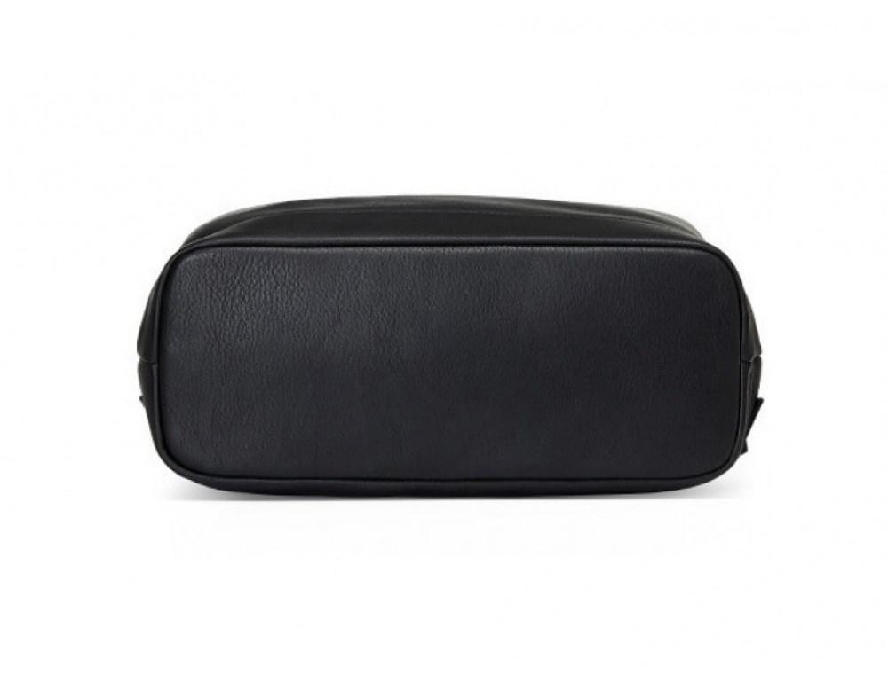 Рюкзак кожаный Tiding Bag B3-1899A чёрный - Фото № 7