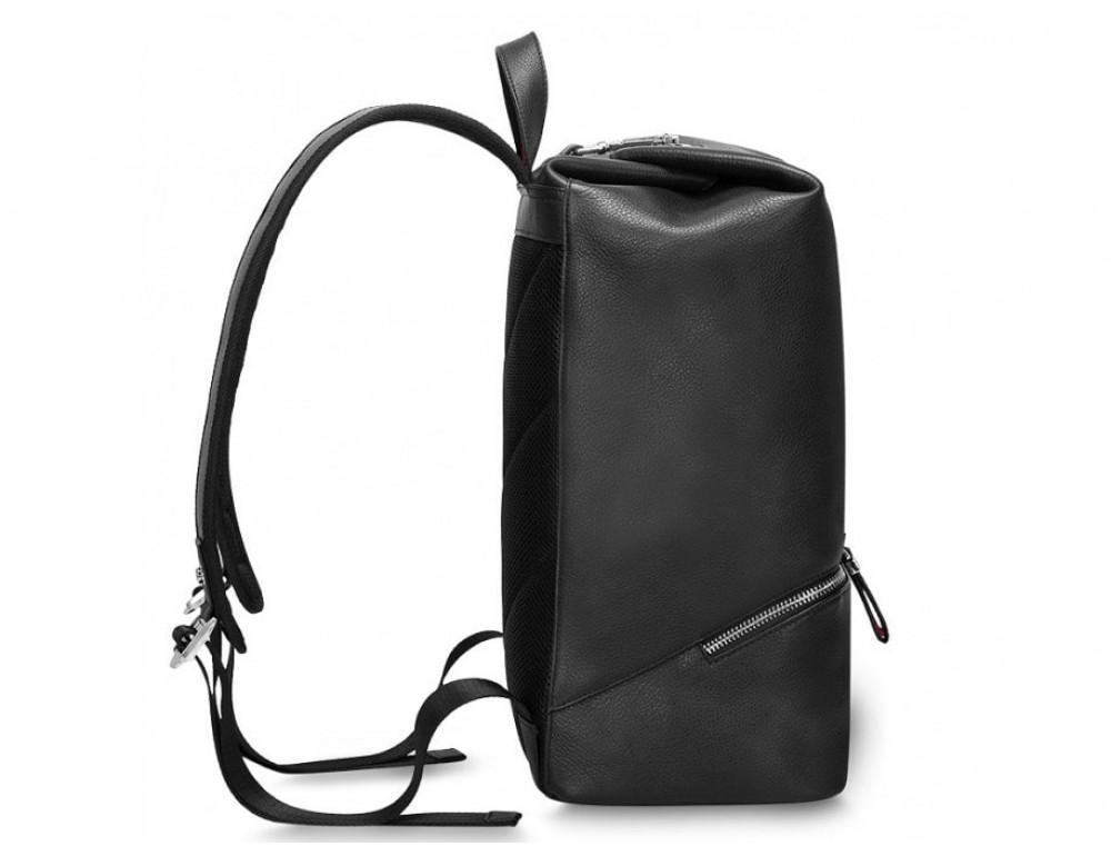 Рюкзак кожаный Tiding Bag B3-2639A чёрный - Фото № 7