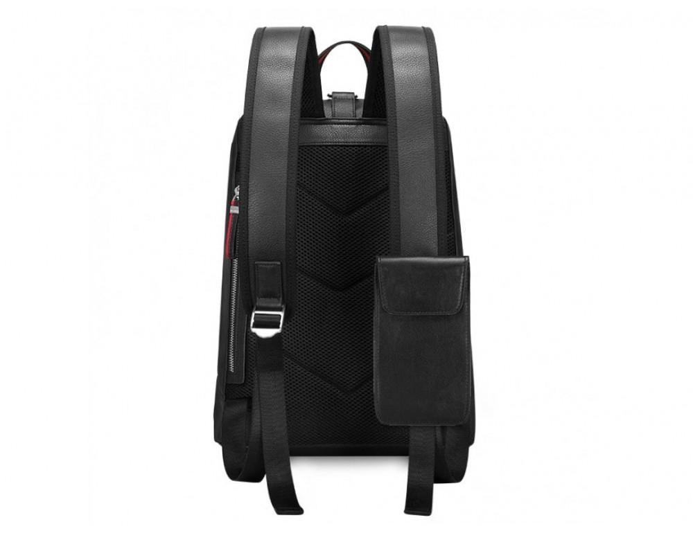 Рюкзак кожаный Tiding Bag B3-2639A чёрный - Фото № 9