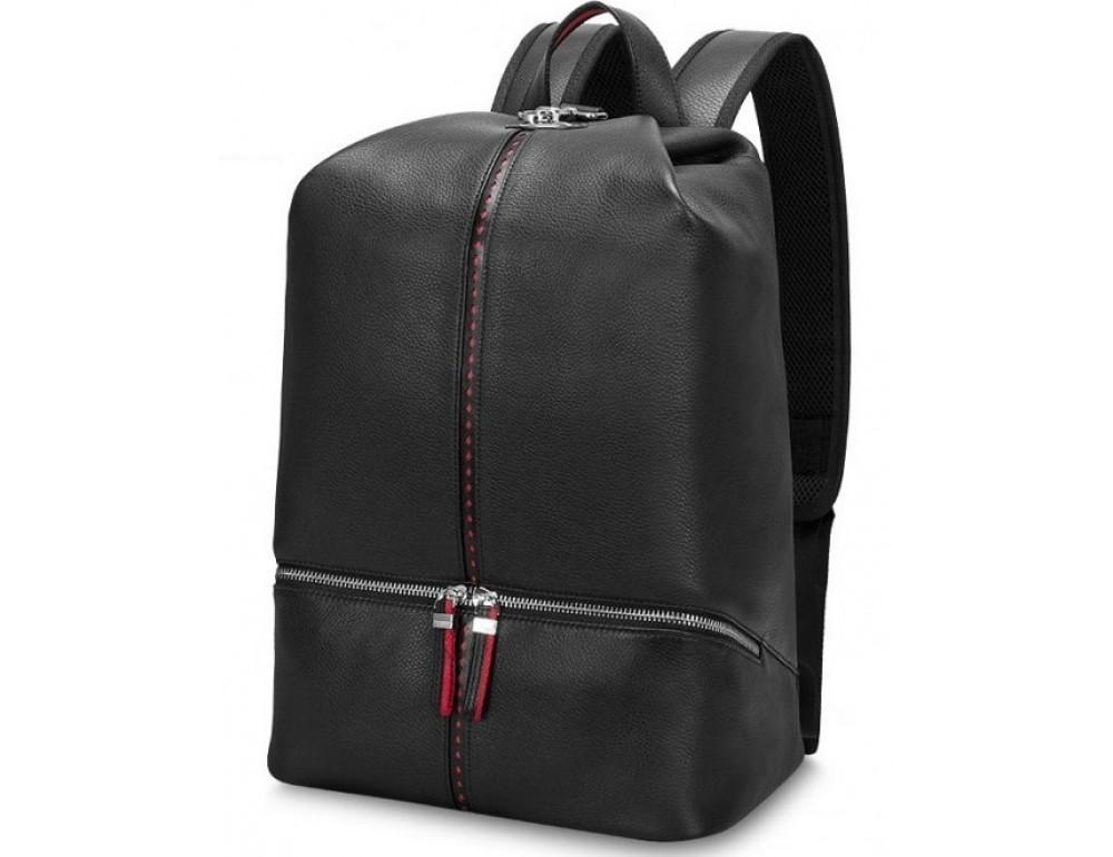 Рюкзак кожаный Tiding Bag B3-2639A чёрный - Фото № 1