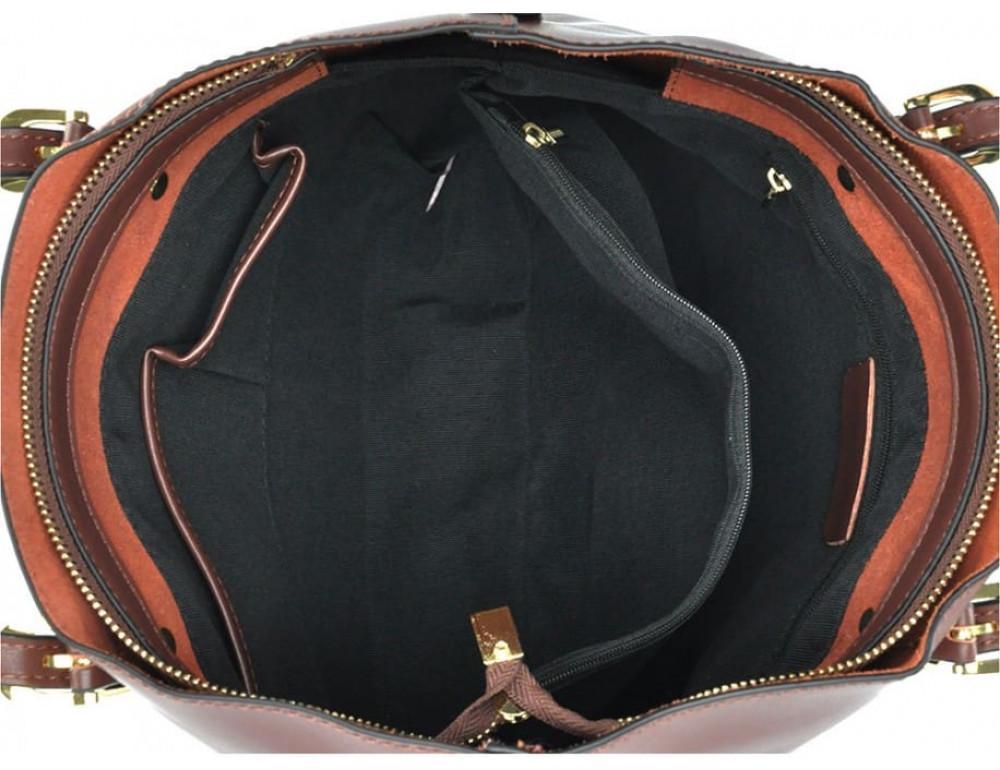 Женская кожаная сумка Grays GR3-173G серая - Фото № 4