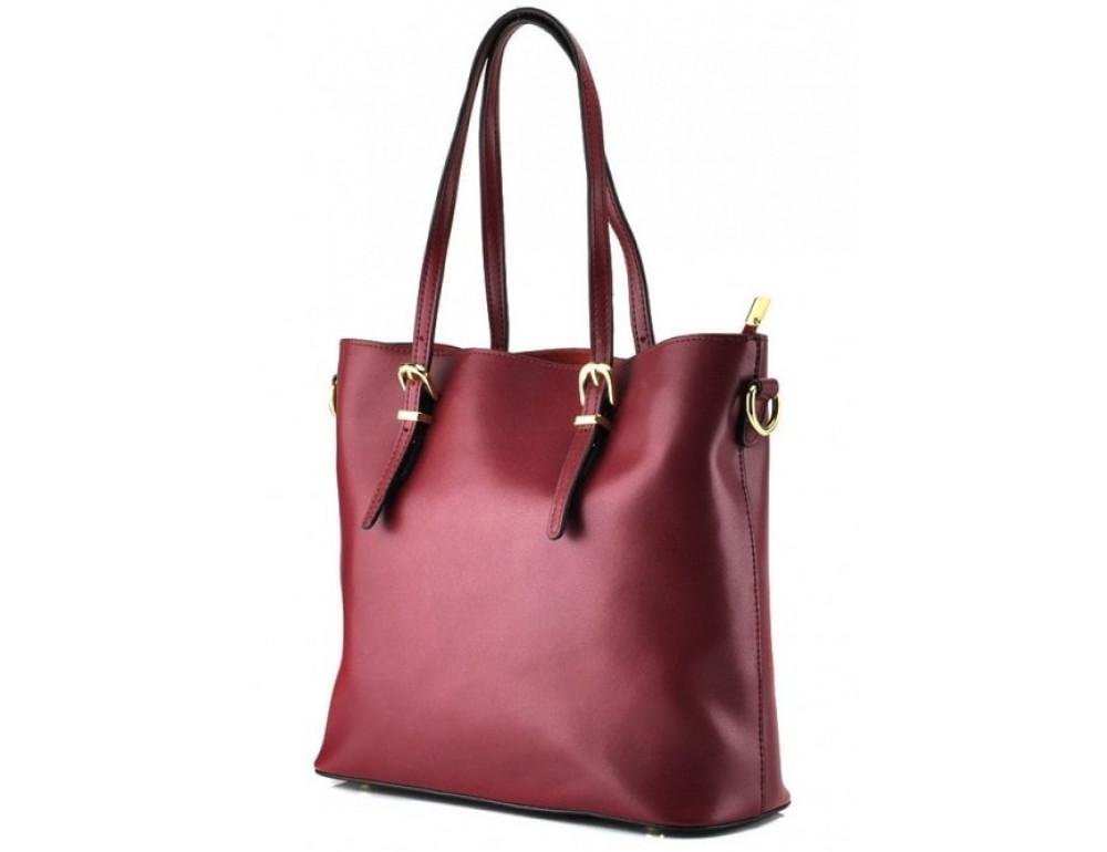 Женская кожаная сумка Grays GR3-173BO бордовая - Фото № 1