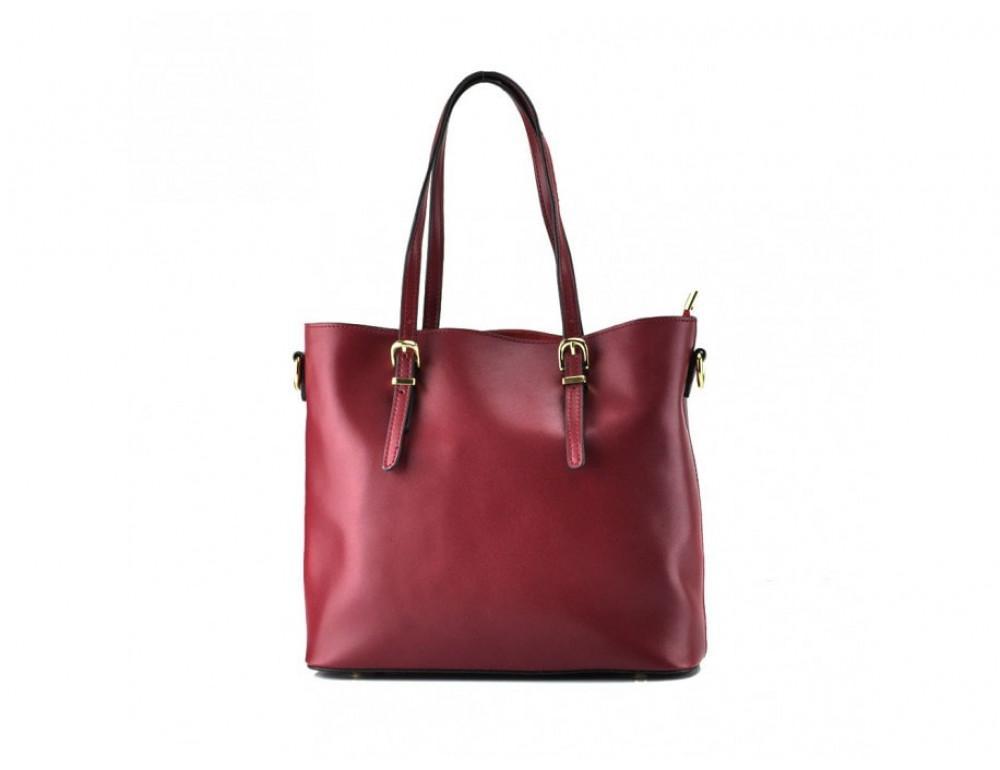 Женская кожаная сумка Grays GR3-173BO бордовая - Фото № 3