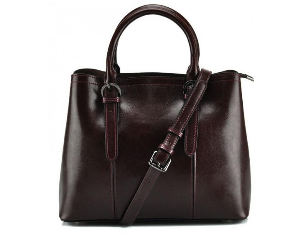 Женская кожаная сумка Grays GR3-857B коричневая - Фото № 1