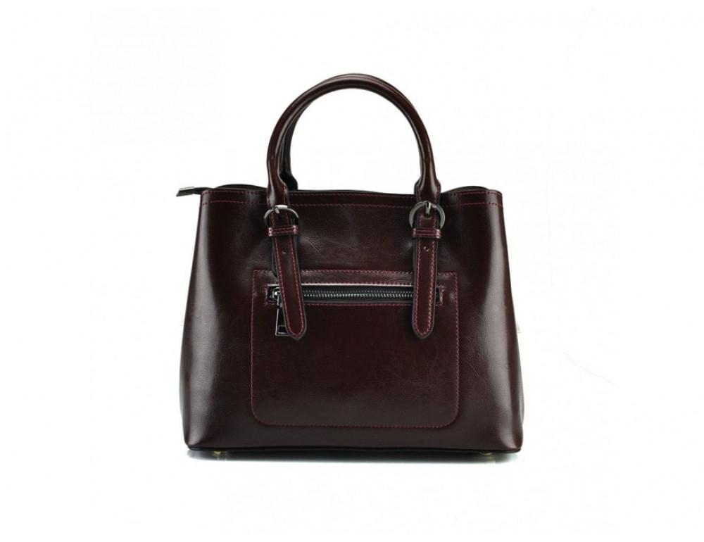 Женская кожаная сумка Grays GR3-857B коричневая - Фото № 3