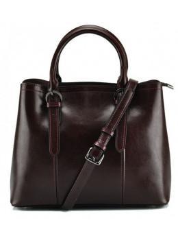 Женская кожаная сумка Grays GR3-857B коричневая