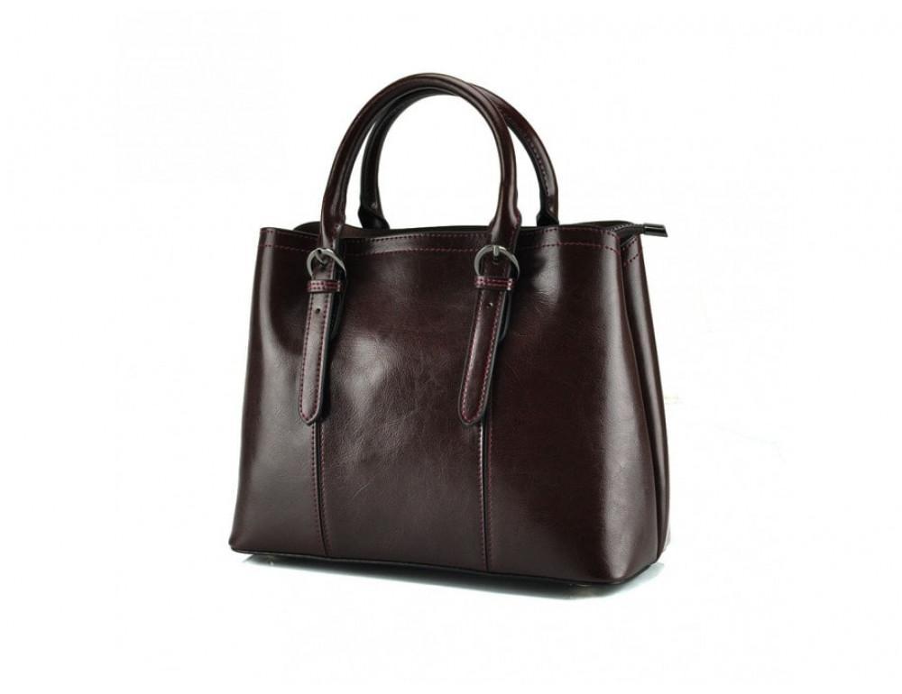 Женская кожаная сумка Grays GR3-857B коричневая - Фото № 4
