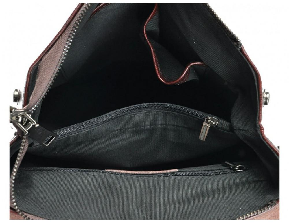 Женская кожаная сумка Grays GR3-857B коричневая - Фото № 5