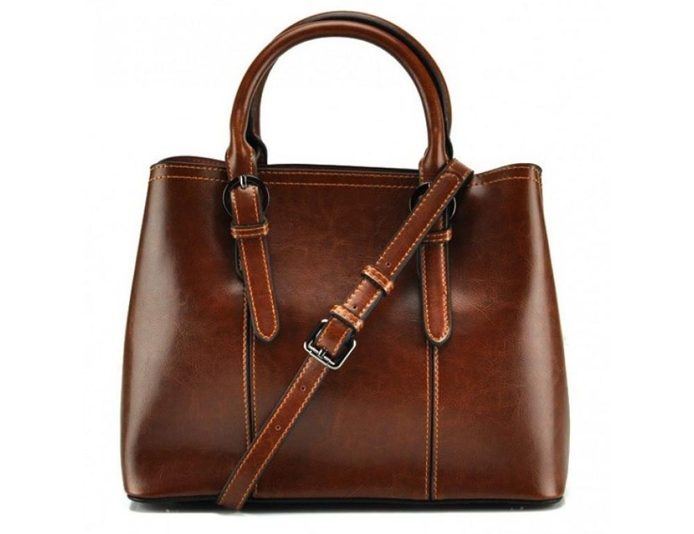 Жіноча шкіряна сумка Grays GR3-857LB руда