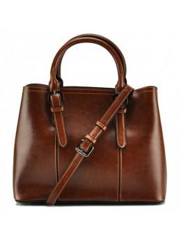 Женская кожаная сумка Grays GR3-857LB рыжая