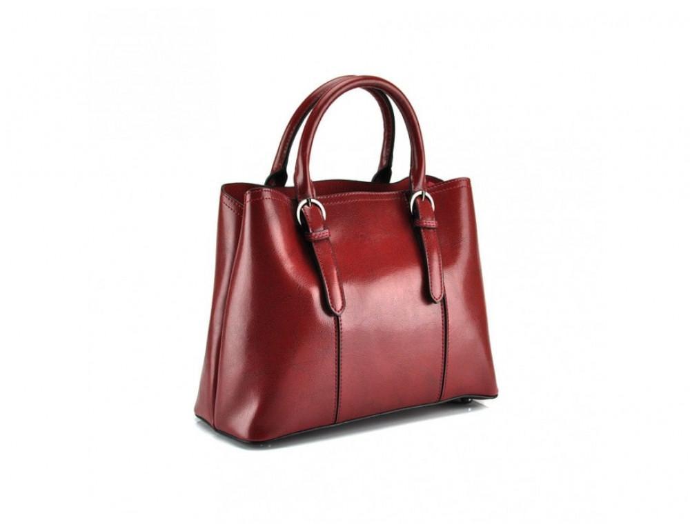Женская кожаная сумка Grays GR3-857R красная - Фото № 3
