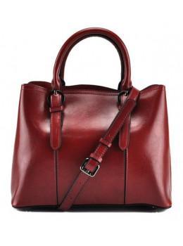 Жіноча шкіряна сумка Grays GR3-857R червона