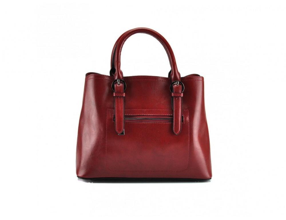 Женская кожаная сумка Grays GR3-857R красная - Фото № 4