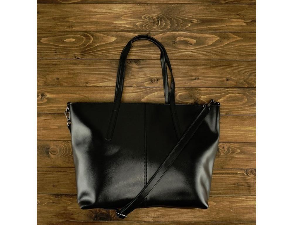 Женская кожаная сумка Grays GR3-8687A чёрный - Фото № 2