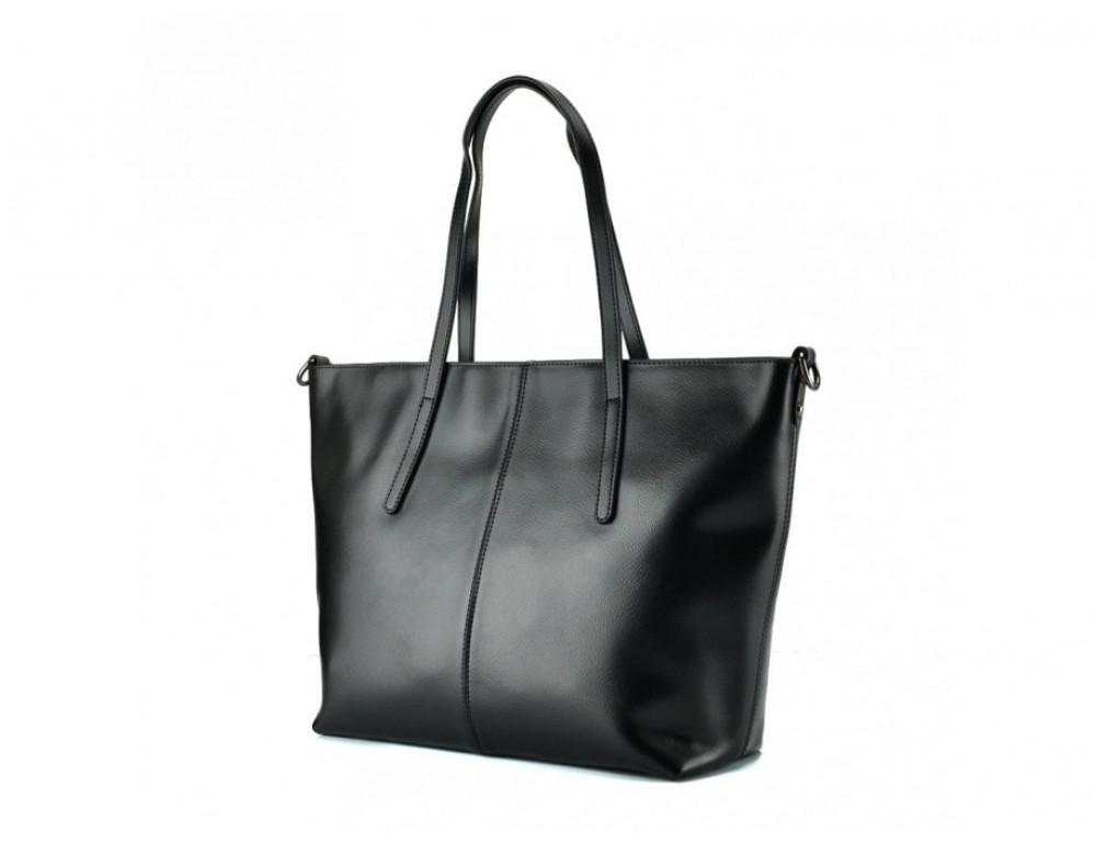 Женская кожаная сумка Grays GR3-8687A чёрный - Фото № 4