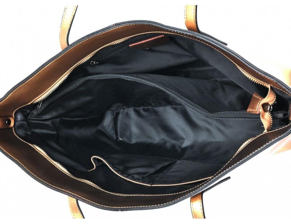 Женская кожаная сумка Grays GR3-8687BGM золотая - Фото № 5