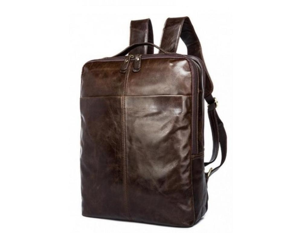Мужской кожаный рюкзак TIDING BAG 7280C коричневый - Фото № 1
