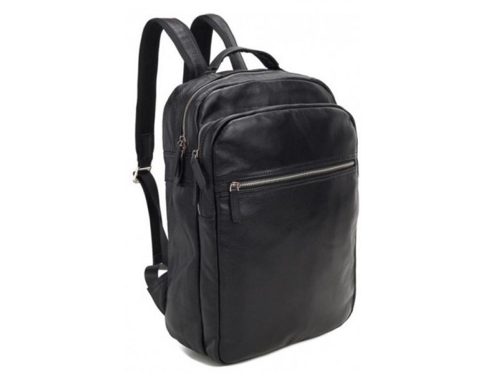 Мужской кожаный рюкзак TIDING BAG M864A чёрный - Фото № 1