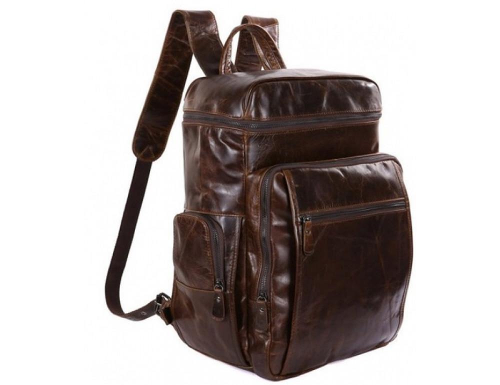 Мужской кожаный рюкзак TIDING BAG 7202C - Фото № 1