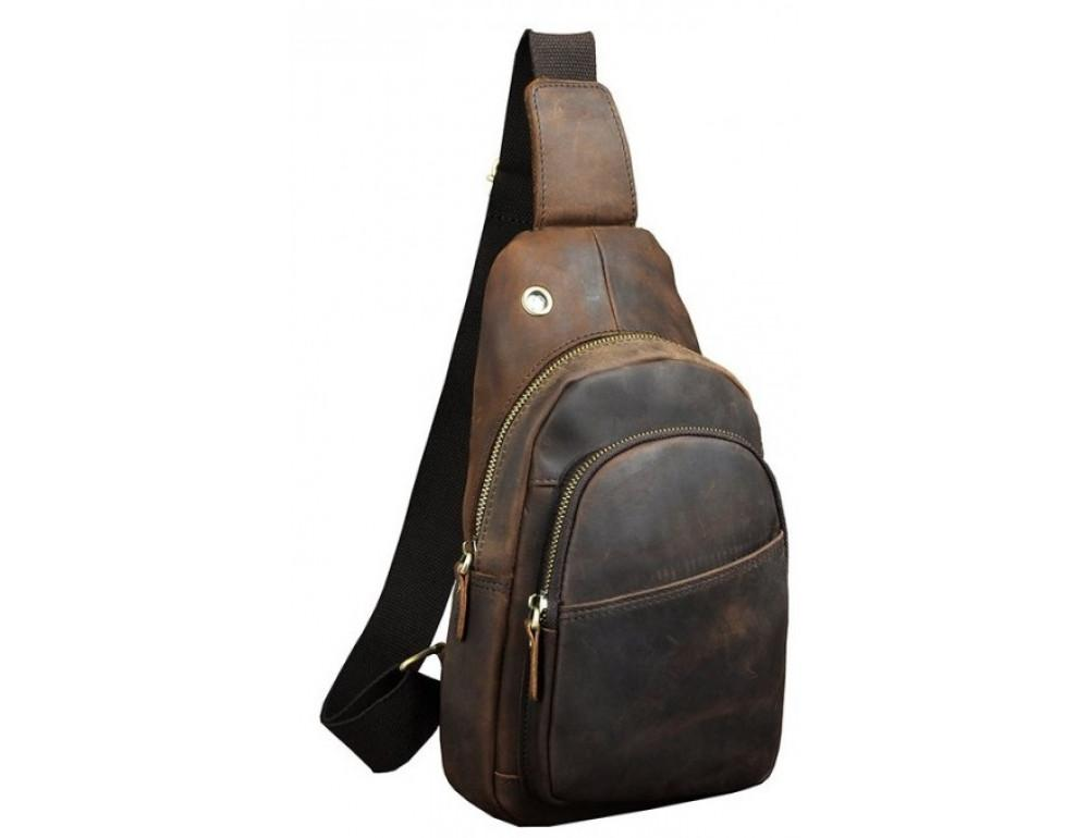 Мужская сумка на плечо Tiding Bag M37-XB8008C Коричневая - Фото № 1
