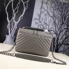 Кожаная сумка Yves Saint Laurent YSL-991210GR серая - Фото № 101