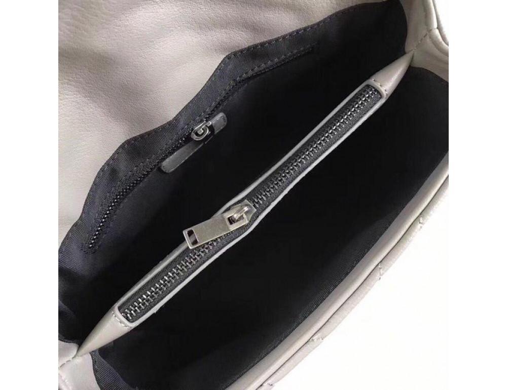 Кожаная сумка Yves Saint Laurent YSL-991210GR серая - Фото № 3