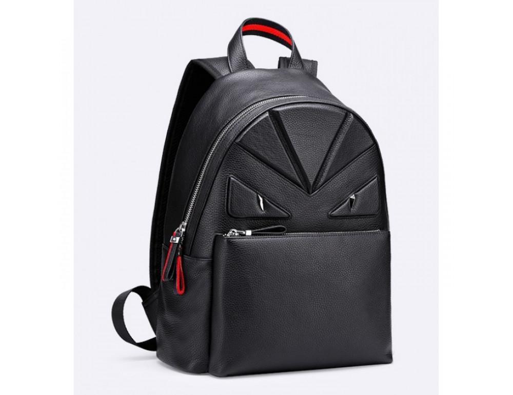 Кожаный городской рюкзак лицо Tiding Bag B3-2025A чёрный - Фото № 2