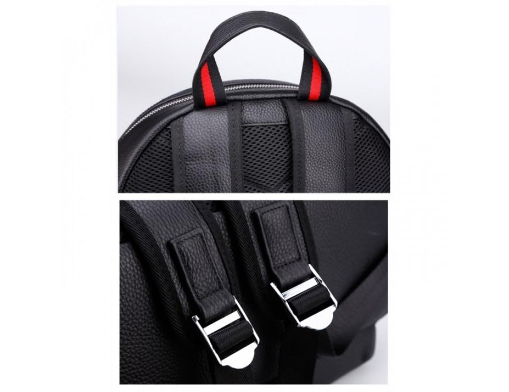 Кожаный городской рюкзак лицо Tiding Bag B3-2025A чёрный - Фото № 11