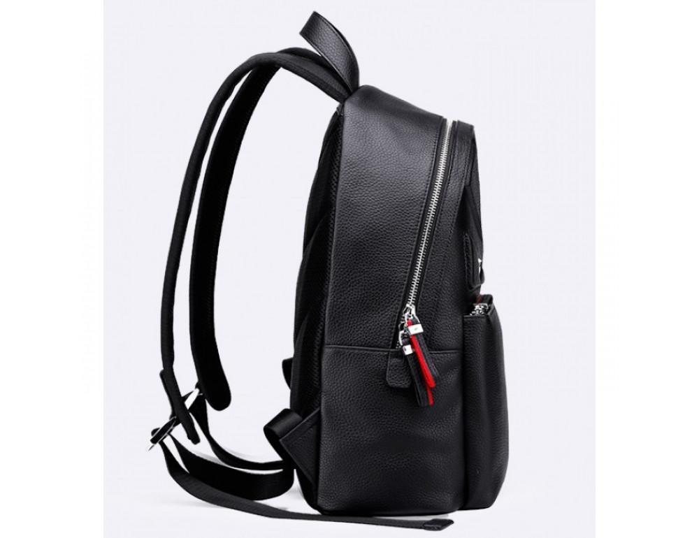 Кожаный городской рюкзак лицо Tiding Bag B3-2025A чёрный - Фото № 5