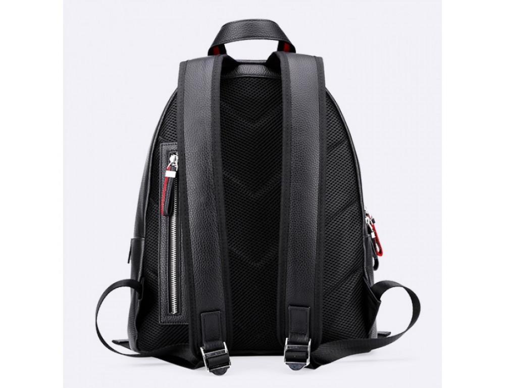 Кожаный городской рюкзак лицо Tiding Bag B3-2025A чёрный - Фото № 3