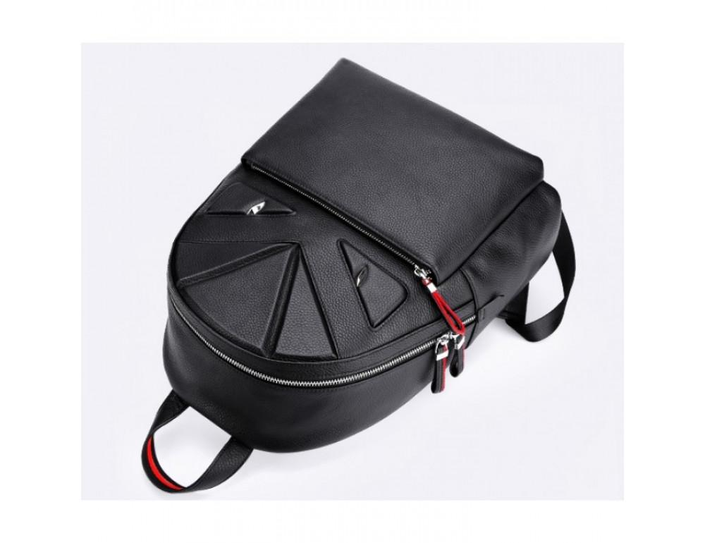 Кожаный городской рюкзак лицо Tiding Bag B3-2025A чёрный - Фото № 4