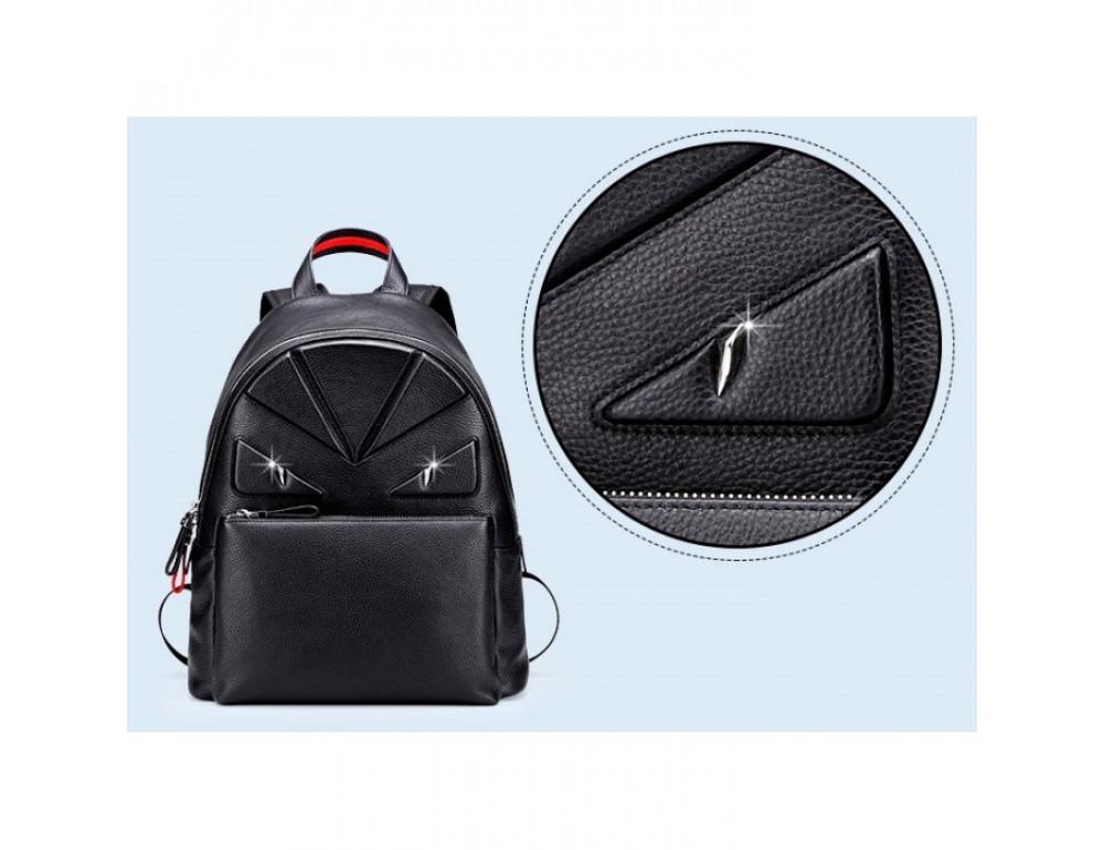 Кожаный городской рюкзак лицо Tiding Bag B3-2025A чёрный - Фото № 7