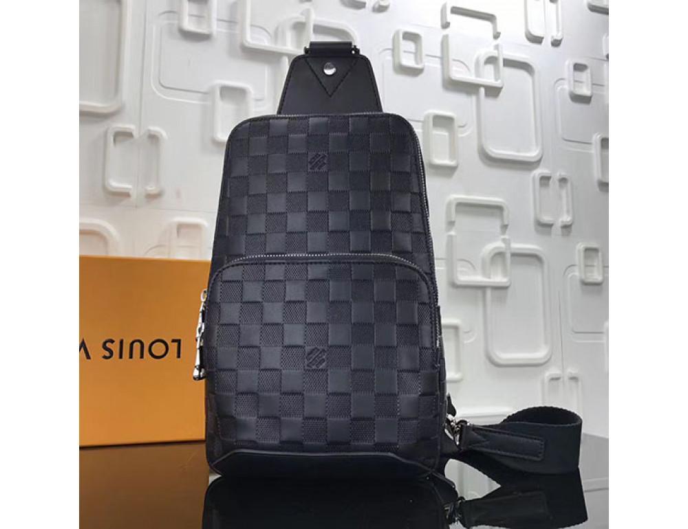 Мужской рюкзак Louis Vuitton N41720 чёрный - Фото № 1