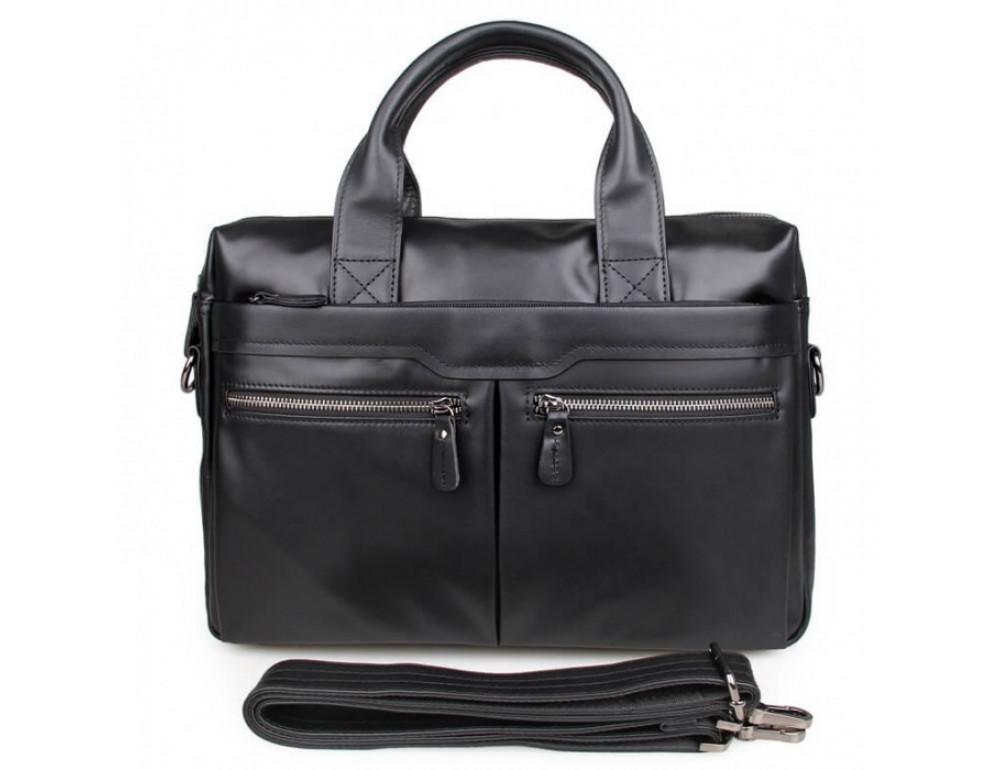 Кожаная сумка для ноутбука JASPER & MAINE 7122A-1 - Фото № 3