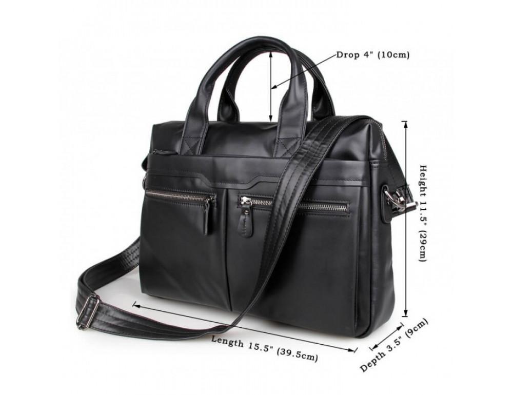 Кожаная сумка для ноутбука JASPER & MAINE 7122A-1 - Фото № 5