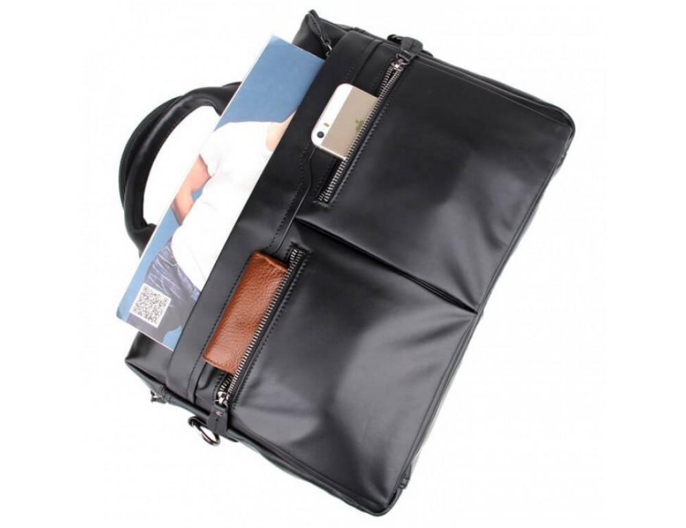 Кожаная сумка для ноутбука JASPER & MAINE 7122A-1 - Фото № 7
