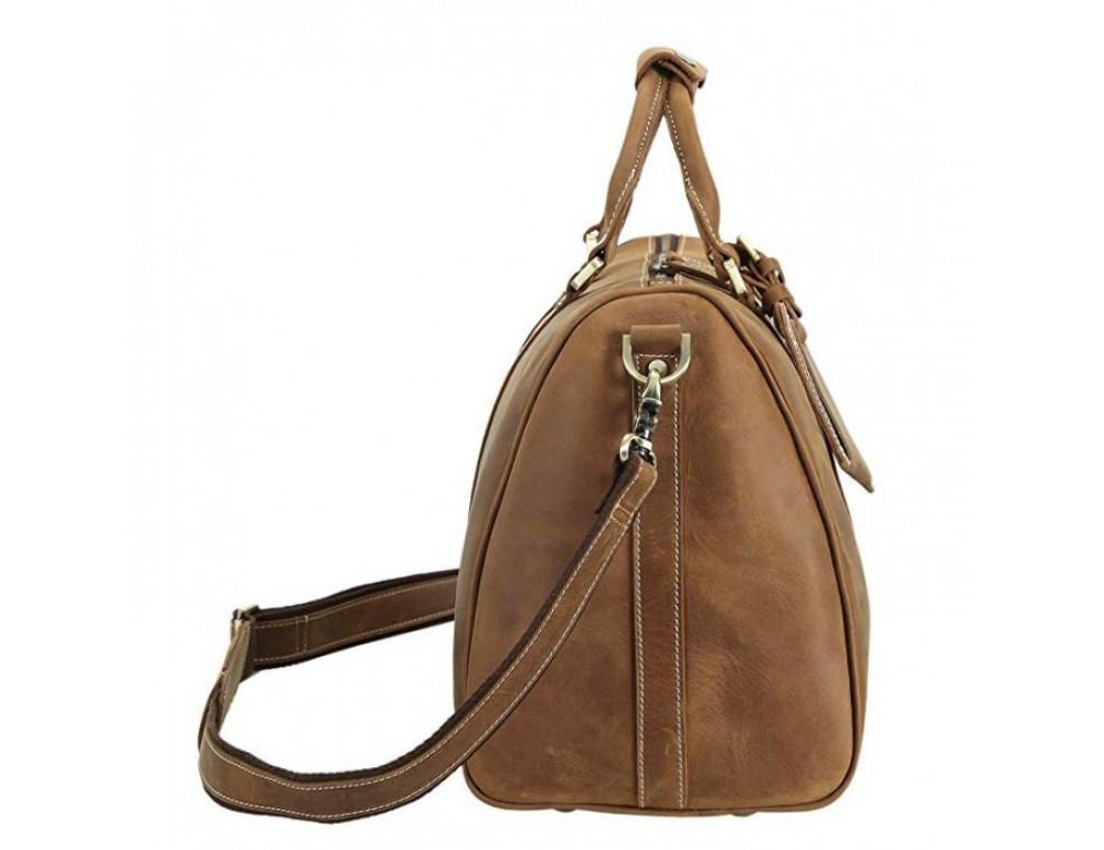 Винтажная дорожная сумка TIDING BAG 0739LB светло-коричневая - Фото № 3