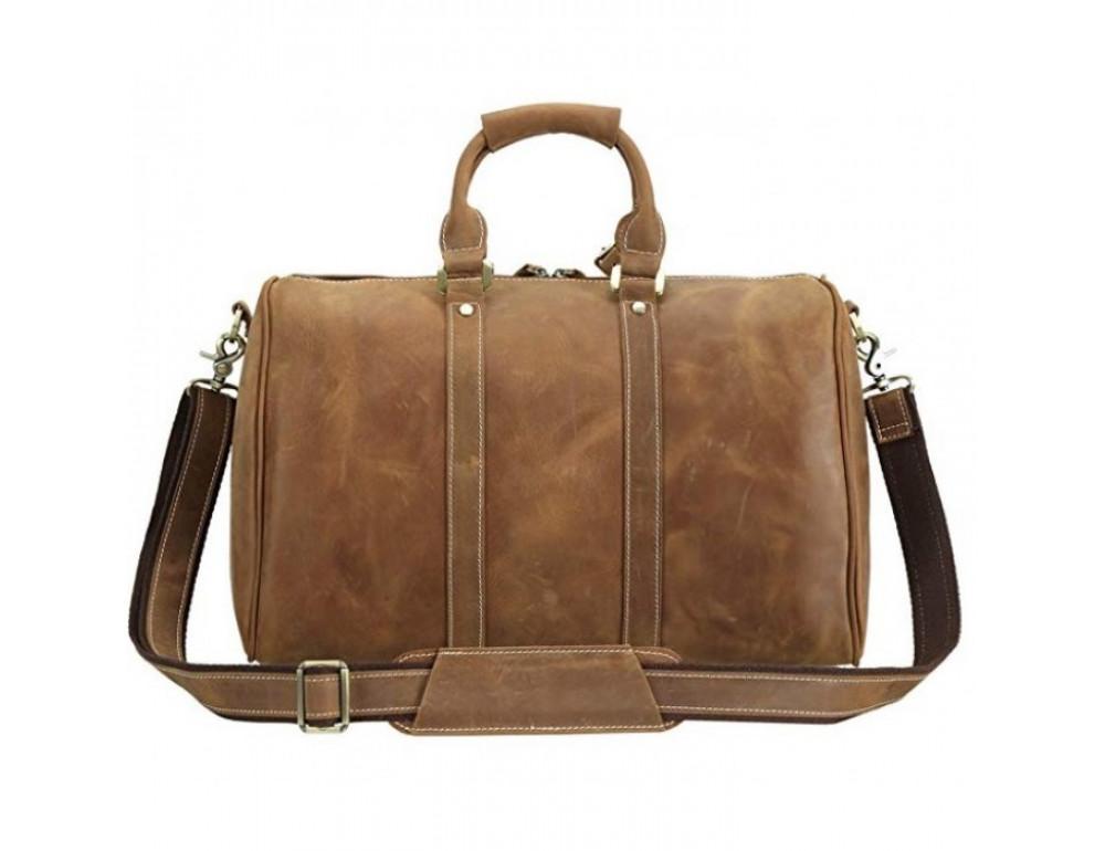 Винтажная дорожная сумка TIDING BAG 0739LB светло-коричневая - Фото № 4