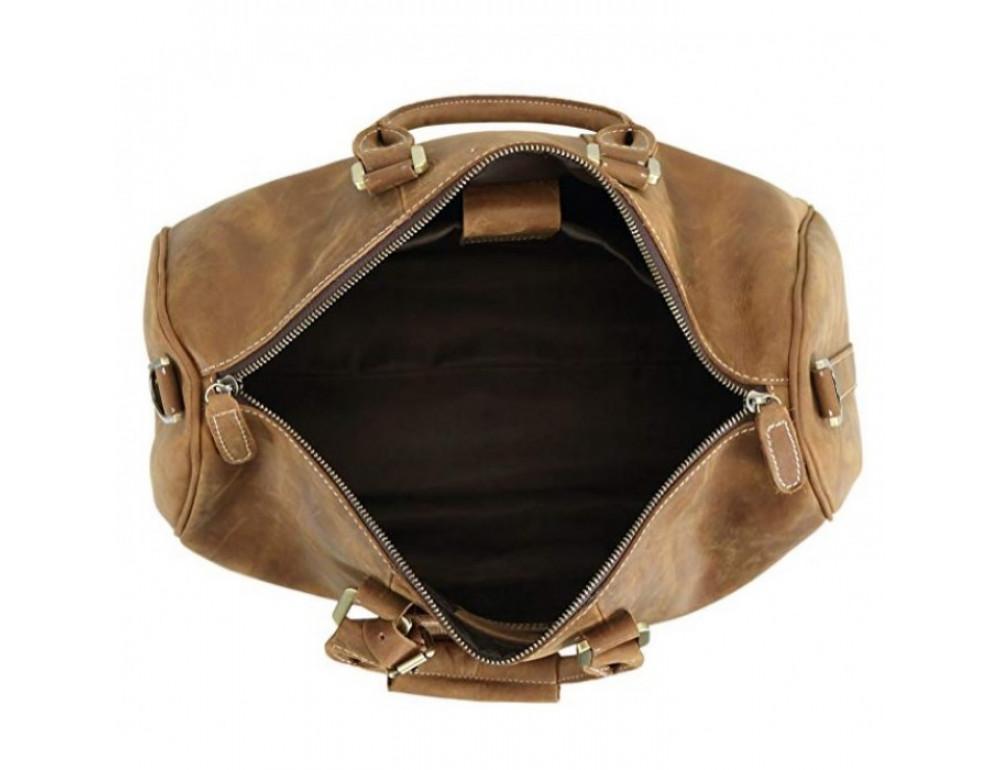 Винтажная дорожная сумка TIDING BAG 0739LB светло-коричневая - Фото № 5
