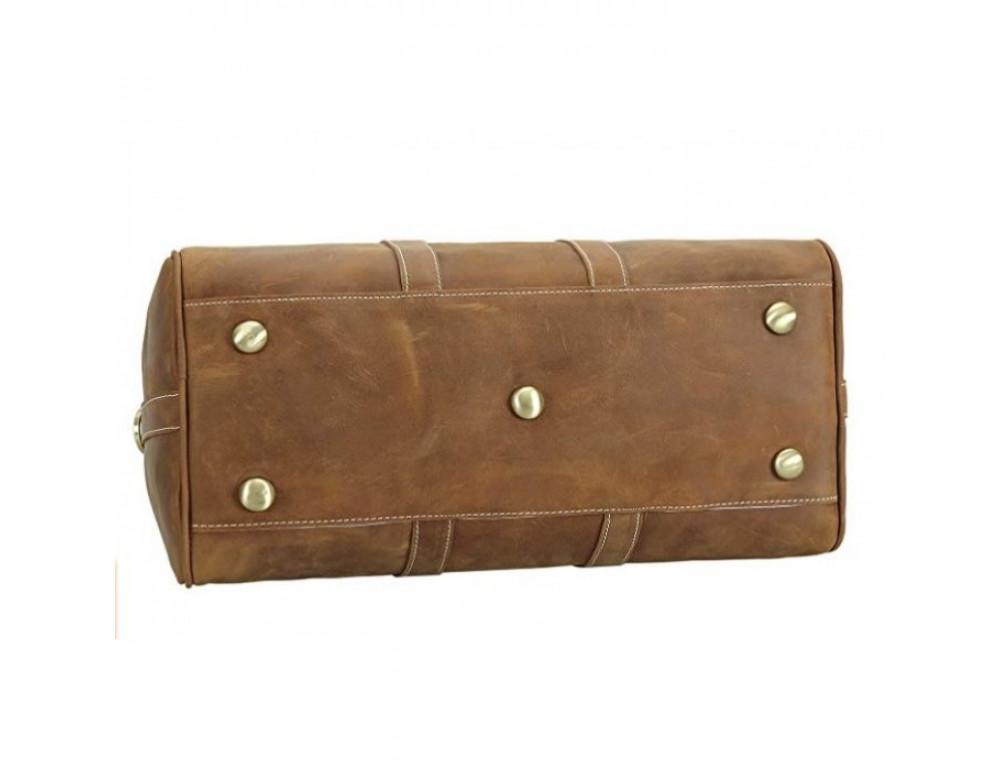 Винтажная дорожная сумка TIDING BAG 0739LB светло-коричневая - Фото № 6