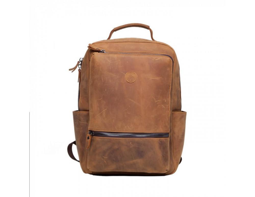 Винтажный городской рюкзак TIDING BAG t0005 коричневый - Фото № 2