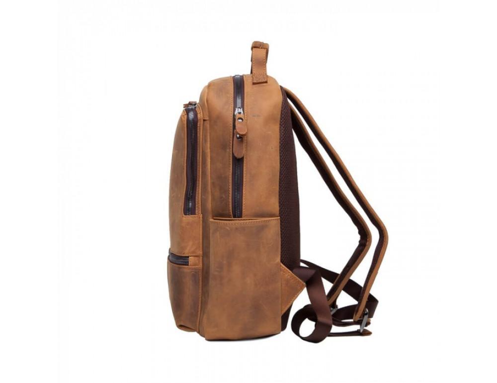 Винтажный городской рюкзак TIDING BAG t0005 коричневый - Фото № 4