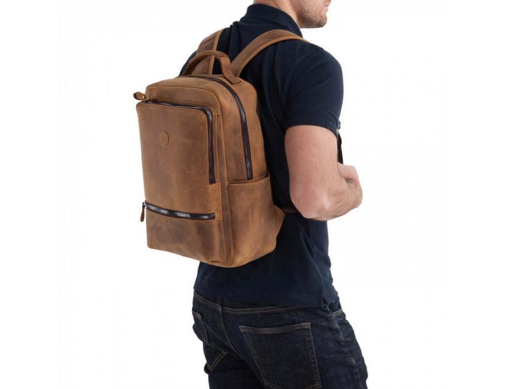 Винтажный городской рюкзак TIDING BAG t0005 коричневый - Фото № 6
