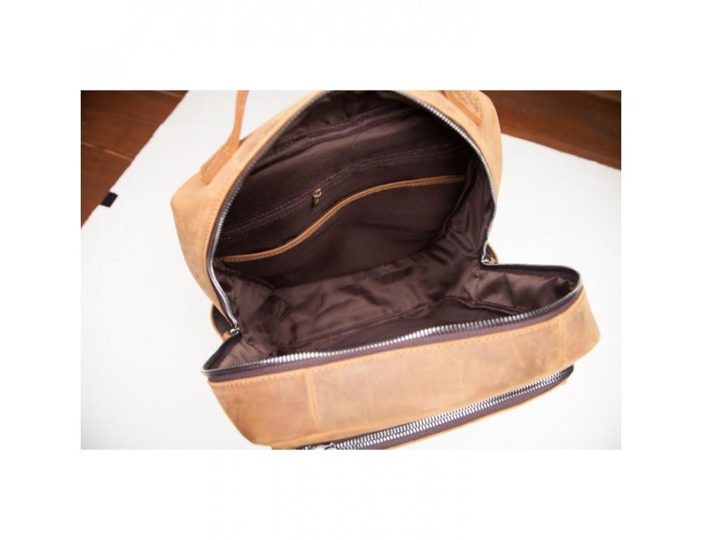 Винтажный городской рюкзак TIDING BAG t0005 коричневый - Фото № 5