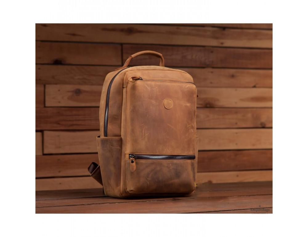 Винтажный городской рюкзак TIDING BAG t0005 коричневый - Фото № 7
