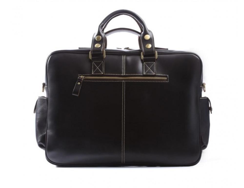 Кожаная мужская сумка TIDING BAG 7028A чёрный - Фото № 2