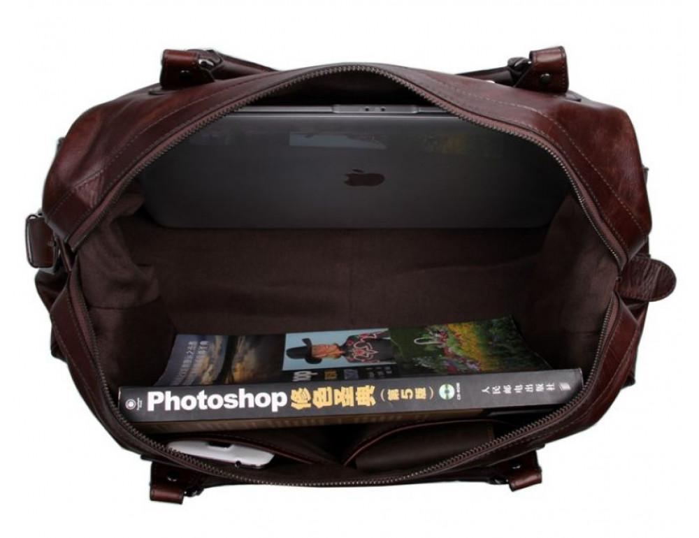 Кожаная дорожная сумка JASPER - MAINE 7071LC - Фото № 6
