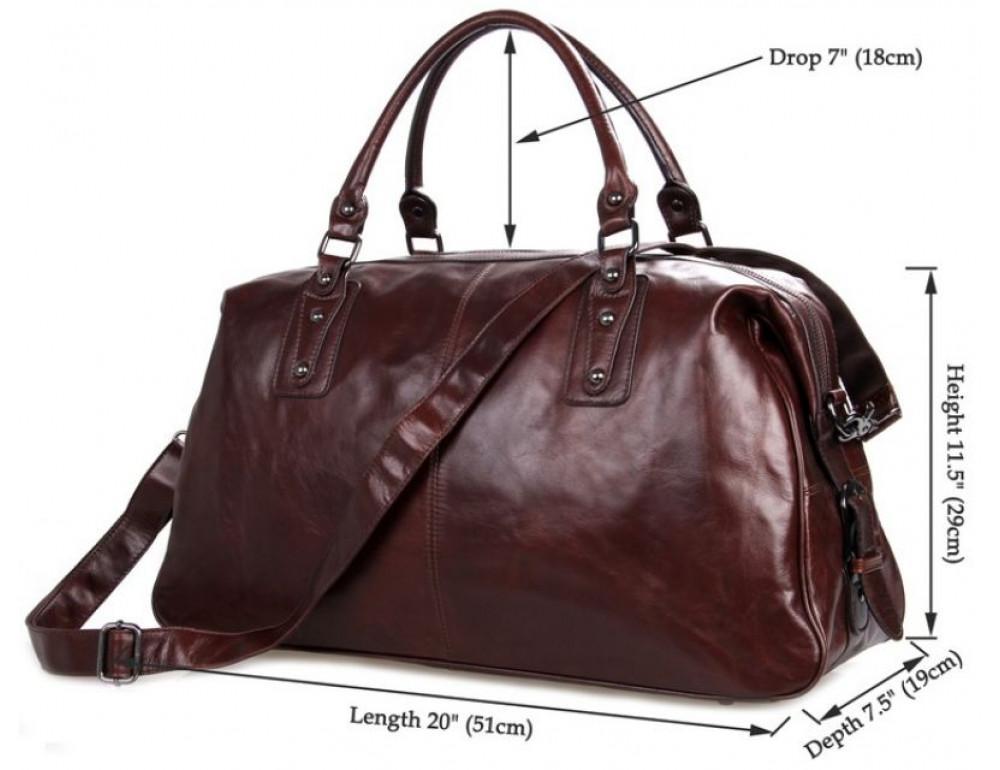 Кожаная дорожная сумка JASPER - MAINE 7071LC - Фото № 7