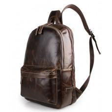 Мужской кожаный рюкзак TIDING BAG 7273Q