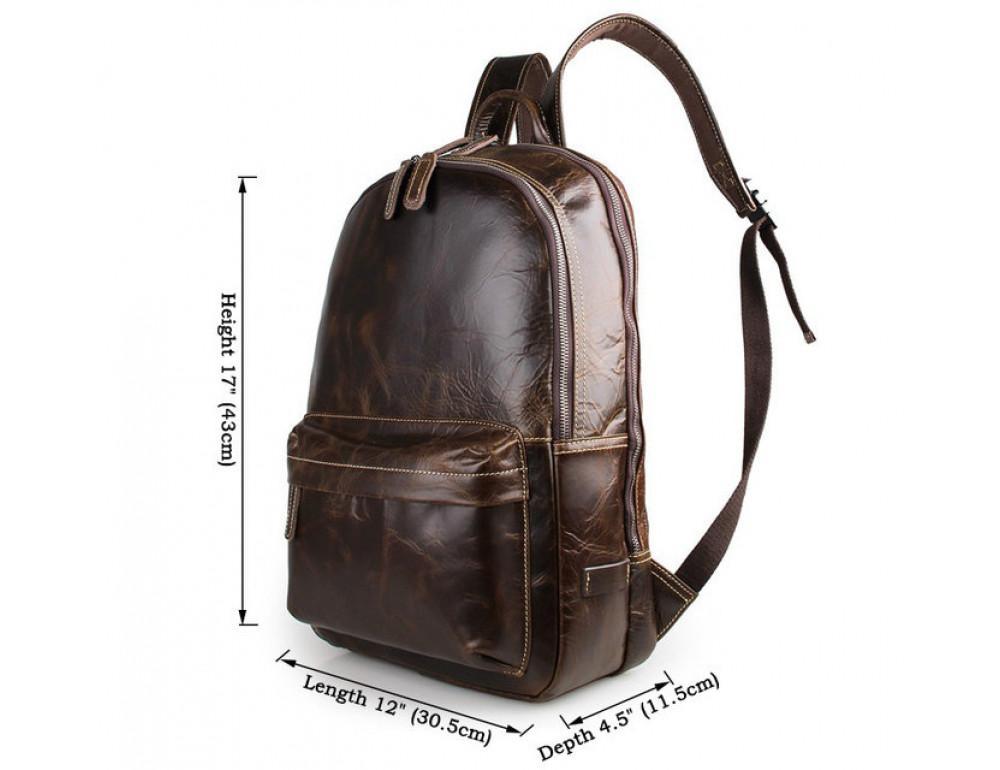 Чоловічий шкіряний рюкзак TIDING BAG 7273Q - Фотографія № 3